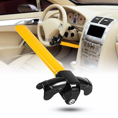 Universal Auto Antitheft Locking Car Steering Wheel Lock With Keys Security Alarm T-lock Black