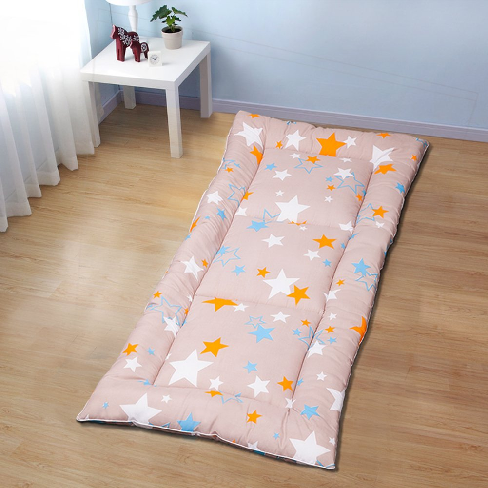Bedroom mattress tatami mat bed pad grinding fabric fold-Able anti-Skidding 4.0cm thick [Individual] [Double] For livingroom student dormitory tents-F 150x195cm(59x77inch)
