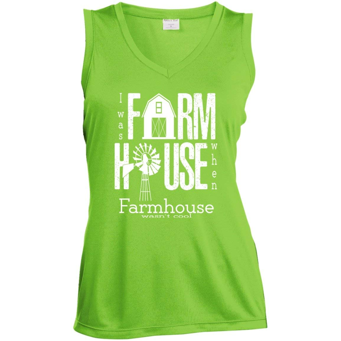 TXRepublic Farmhouse Ladies Sleeveless Moisture Absorbing V-Neck