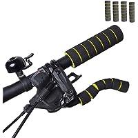 Futaba Anti-Slip Mountain Handlebar Sleeve Bike Grips - Yellow -Pack of Four