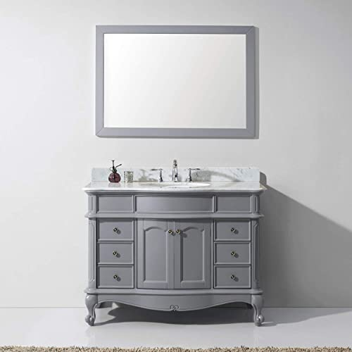 Virtu USA ES-27048-WMRO-GR Norhaven Single Bathroom Vanity Cabinet Set, 48 , Grey, 48 inches, Cool Gray