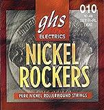 GHS Strings R+RL Nickel Rockers, Rollerwound Pure Nickel Electric Guitar Strings, Light (.010-.046)