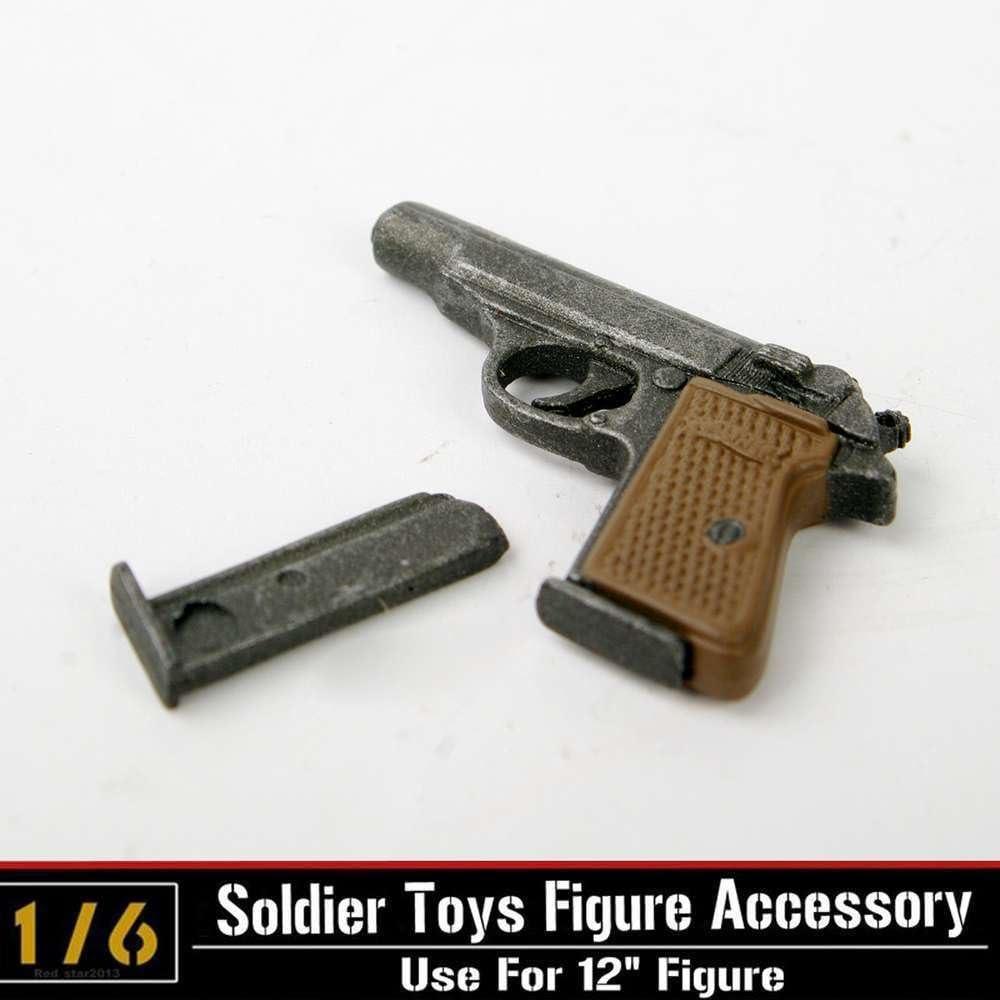 "1//6 Scale Gun Pistols Weapons Model Desert Walter For 12/"" Action Figure Soldier"