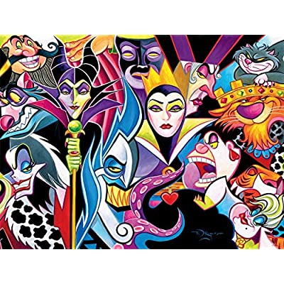Ceaco Disney Villains Jigsaw Puzzle, 1500 Pieces: Toys & Games
