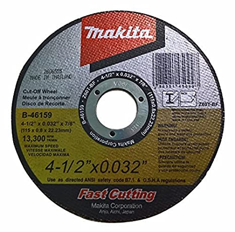 "Stainl... 25 Pack Makita B-46165-25 5/"" x .032/"" x 7//8 Ultra Thin Cut-Off Wheel"