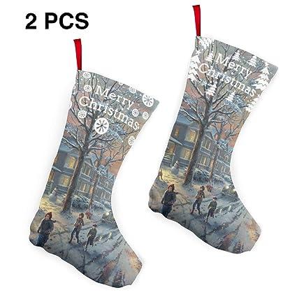 Victorian Christmas Stockings.Amazon Com Pummbaby Victorian Christmas Print Merry