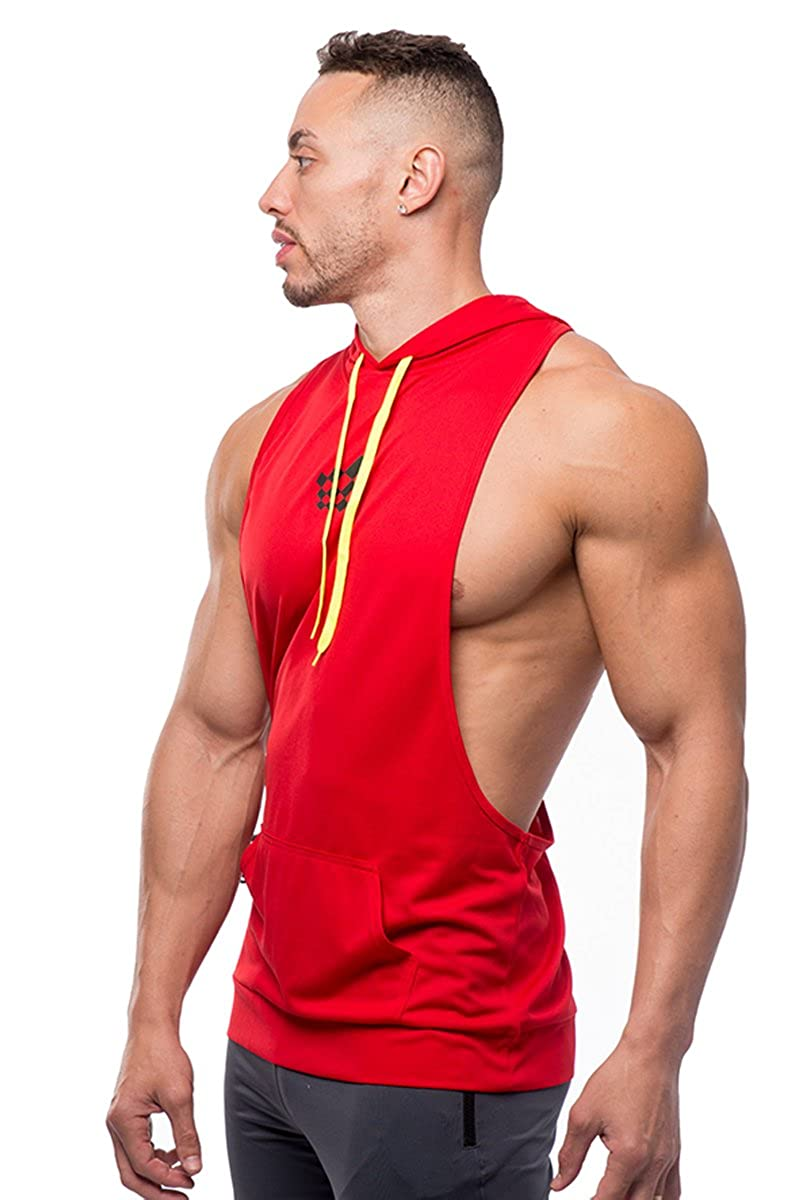 bdbd7f798fddf6 Jed North Bodybuilding Stringer Hoodie Gym Tank Top Racerback Hoodie  Tank009P larger image