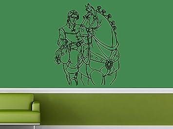 Amazon.com: Flynn Rider & caballo Maximus – Adhesivo de ...