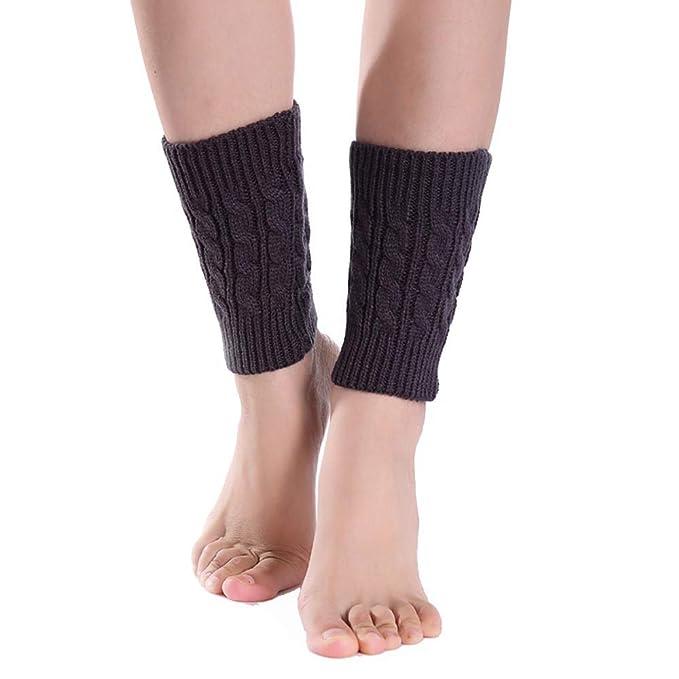 UJUNAOR Frauen Mädchen Wollsocken Winter Leggings Kurz Socken ...