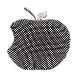 Fawziya Apple Shape Purse Brand Bags For Girls Handmade Clutches-Black