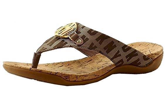 1d2c9818847c Donna karan women bianca chino logo flip flop sandals shoes jpg 569x379 Dkny  flip flops sandals