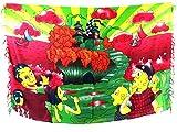 hiphop clothing wholesale fun cartoon sarong red clothing maxi shawl wrap