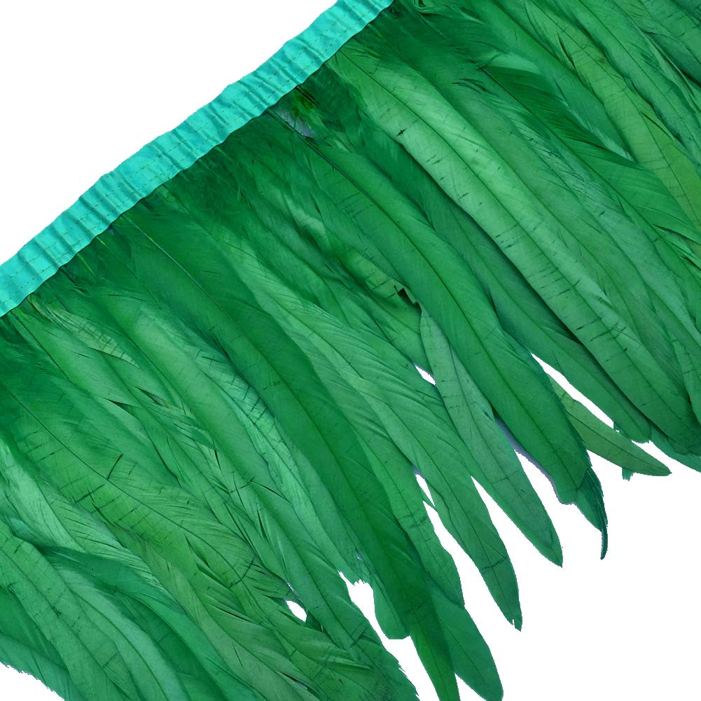 Sowder Rooster Feather Fringe Trim 12-14 in Width Pack of 1 Yard(Black) fashion feather