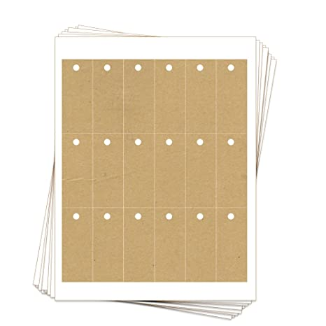 picture regarding Printable Hang Tags named 180 Printable Kraft Cardstock Rectangle Cling Tags with Holes, 1.25 x 3 Inches, 2-Sided Customize and Tailor made Tags