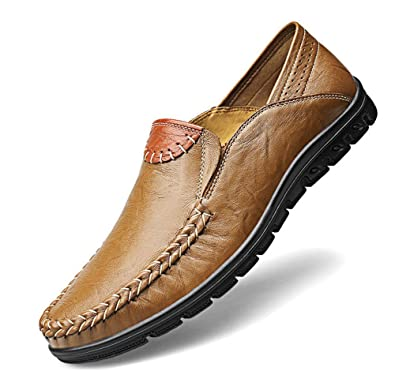Moccasins Mens Casual Shoes Handmade Loafers Genuine Leather Boat Shoes for Men Slip On Zapatos Hombre