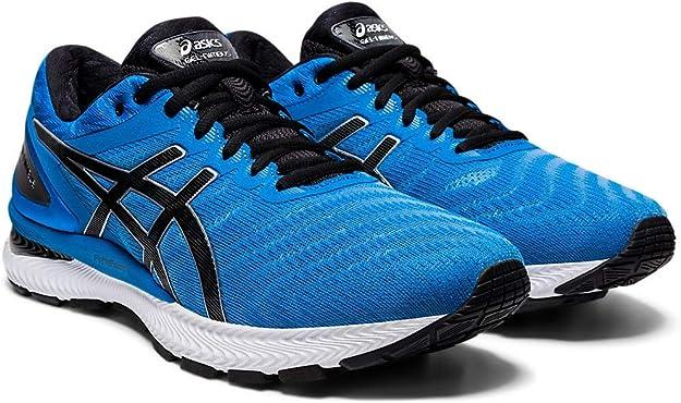 ASICS Gel-Nimbus 22 - Zapatillas de correr para hombre, Azul (negro, azul (Directoire Blue/Black)), 42 EU: Amazon.es: Zapatos y complementos