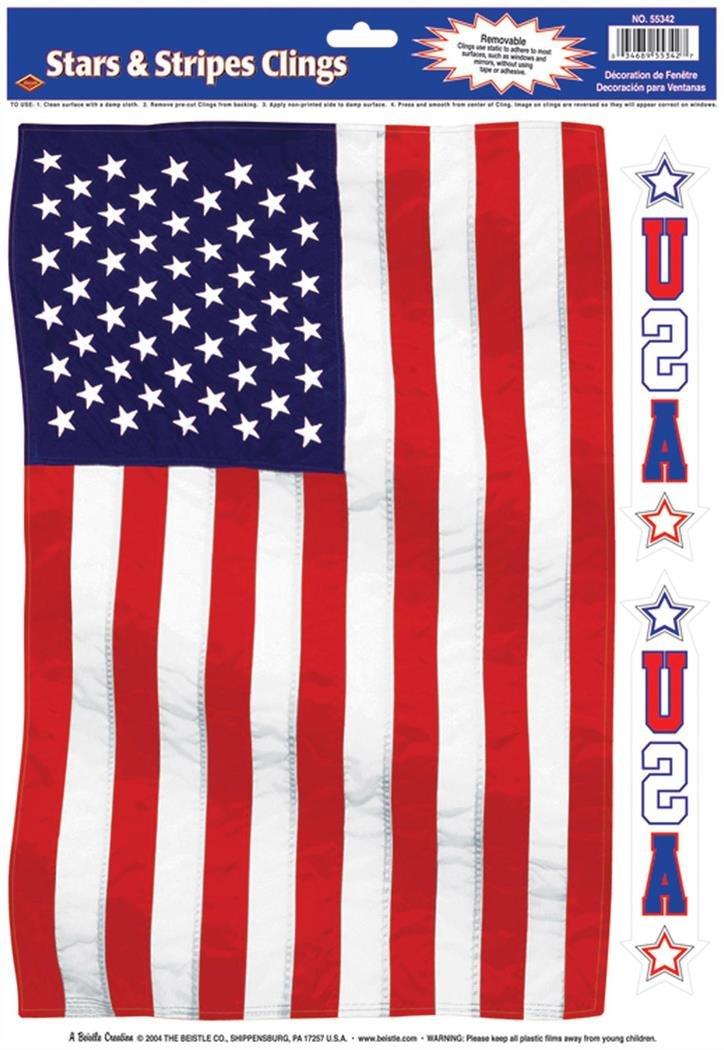 Beistle Company - American Flag Window Cling - Standard