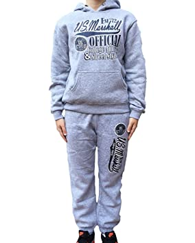 US Marshall - Chándal, infantil, unisex, color gris, gris, 16 años ...