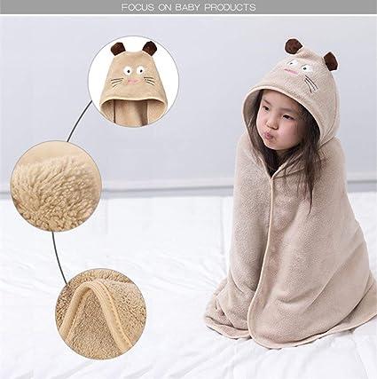 XINSU Home Bebé Niños Niños Toalla con Capucha Animal Lindo 100% algodón Superior Piscina de