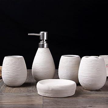 YWXG Kreative manuelle europäische Stil Keramik Bad-Set 5 Stück ...