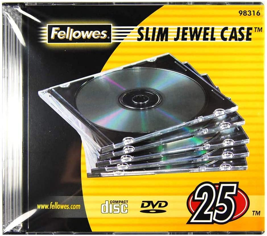 Clear Slim Jewel Cases, 25 Pack