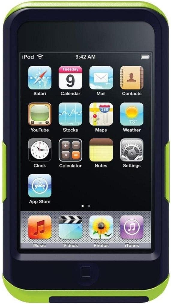 OtterBox Commuter Series Case for iPod touch 4G - Black/Green (Discontinued by Manufacturer)