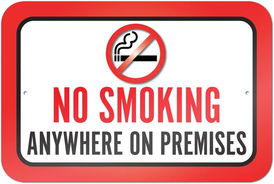 No Smoking No Vaping Within 25 Feet of Building Sign Aluminum Sign Metal Gift Sign Wall Plaque Decoration