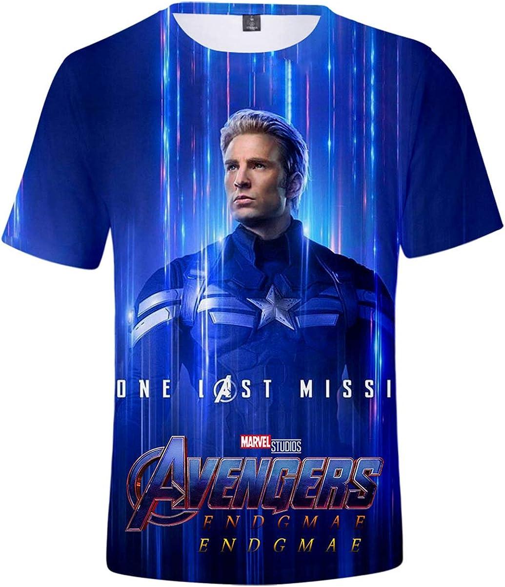 Hombre Camiseta Avengers Superhero Captain America, Iron Man Cosplay Manga Corta: Amazon.es: Ropa y accesorios