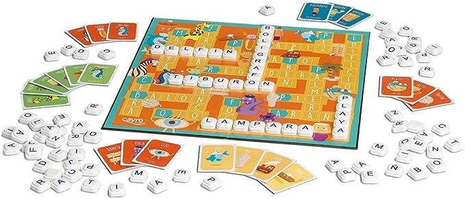 Cayro - Mi Primer Juego de Palabras - juego de las palabras cruzadas - juego de mesa - Desarrollo de la expresión verbal y comunicación ideal para utilizar el lenguaje correctamente -