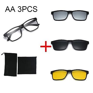 Amazon.com: FUPRECIOUS Magnetic Polarized Clip-on Sunglasses TR90 ...