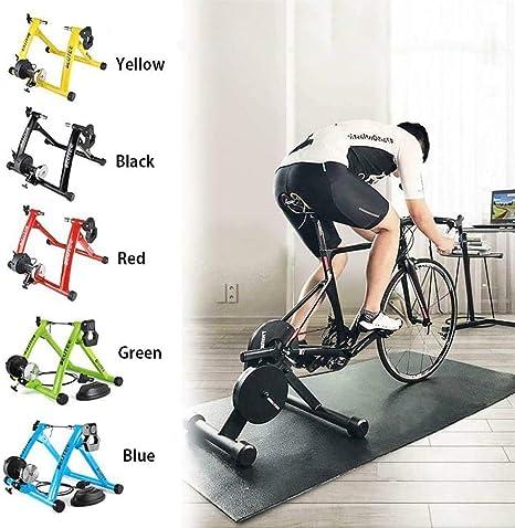 L&WB Entrenamiento Bicicleta, Bicicletas De Ejercicio De Entrenamiento Bicicleta Soporte Magnético, Magnetorresistencia De 6 Velocidades con Resistencia Variable,Amarillo: Amazon.es: Deportes y aire libre