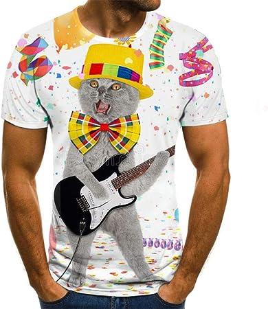 camisa manga corta hombre estampada Tocando la guitarra ...