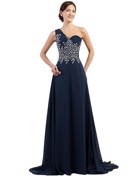 Quissmoda vestido corto largo fiesta, noche, gala, talla 34, color azul oscuro
