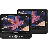 "Sylvania SDVD9957 Portable DVD Player with Dual 9"" Screen (Black) (Certified Refurbished)"