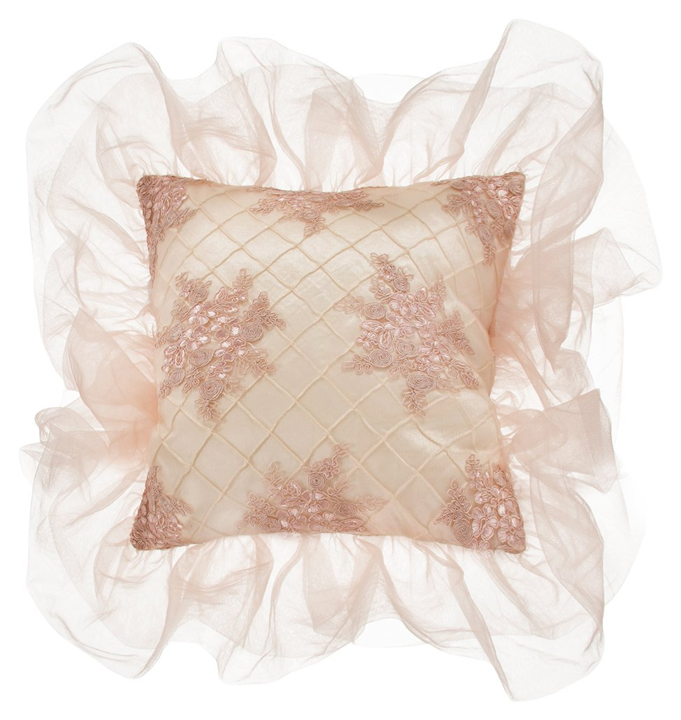 Glenna Jean Remember My Love Pillow, Cream Pintuck