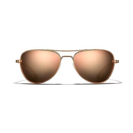 f6821bf45d3 ROKA Rio Alloy Sports Performance Aviator Polarized Sunglasses Men Women -  Copper Frame - Rose Gold