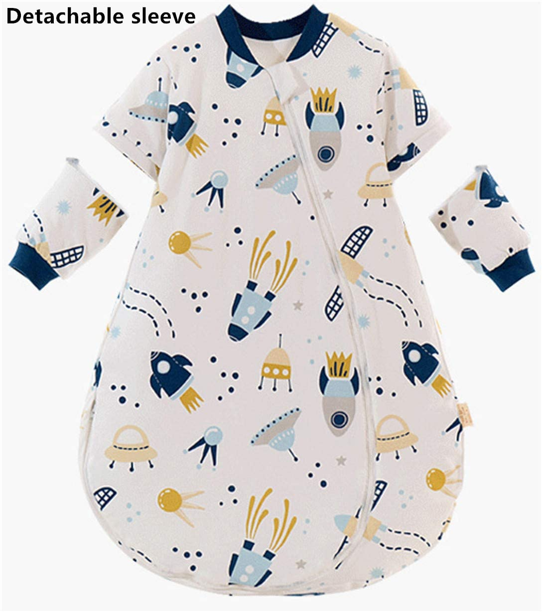 Chilsuessy Baby Sleeping Bag with Removable Long Sleeve Winter Sleeping Bag 2.5 Tog Toddler Sleeping Bag Soft Cotton Wearable Blanket for Girls and Boys 100//18-30 Months Cartoon Giraffe