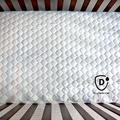 Organic Cotton Waterproof Fitted Crib Pad Natural Baby