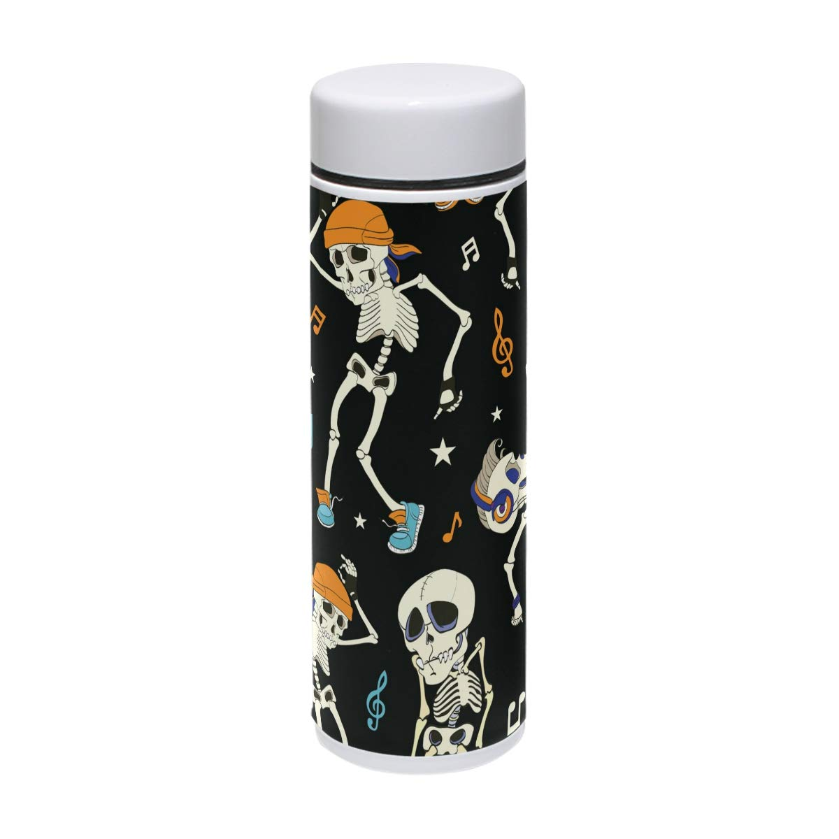 DEYYA Skull Dance Music Thermos Cup Stainless Steel Tumbler Vacuum Insulated Double Wall Travel Cup, 7.5oz