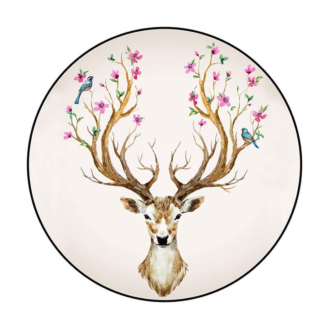 HOTUEEN Home Decoration Bedroom Cute Cartoon Animal Round Non-Slip Carpet Futon Mattresses by HOTUEEN