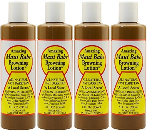 Maui Babe Browning Lotion 8 Ounces (Pack of 4) by Maui Babe