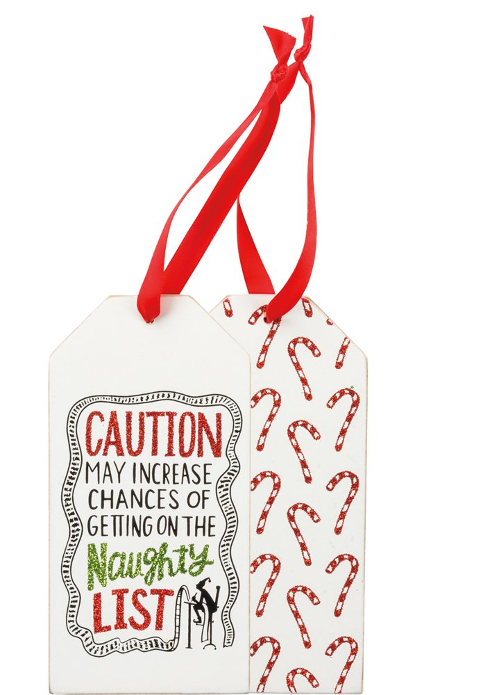 Bottle Tag - Naughty List, Set of 3