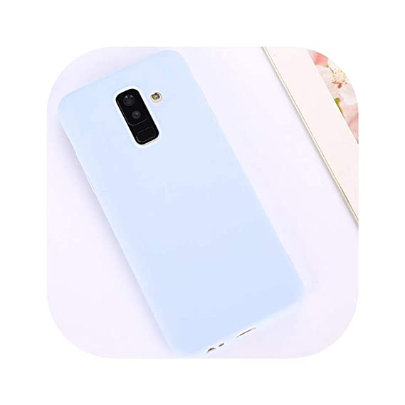 Candy Color Case for Samsung Galaxy A50 A70 A5 2017 J4 J6 Plus J8 A8 A6 A7 2018 S8 S9 S10 Plus S10E Note9 M20 Soft Cover,Purple,A8 Plus 2018 A730F