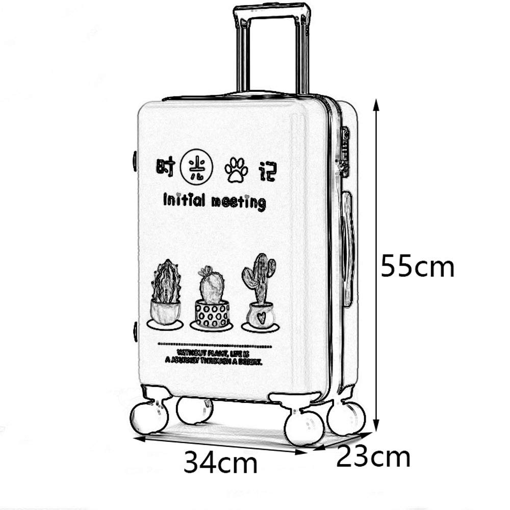 ABS//PC YD Luggage Set Trolley Case Frosted Pearlescent Surface TSA Custom Code Lock Personality Student Creative Plant Travel Large Capacity Trolley Case 5 Patterns Optional ///&
