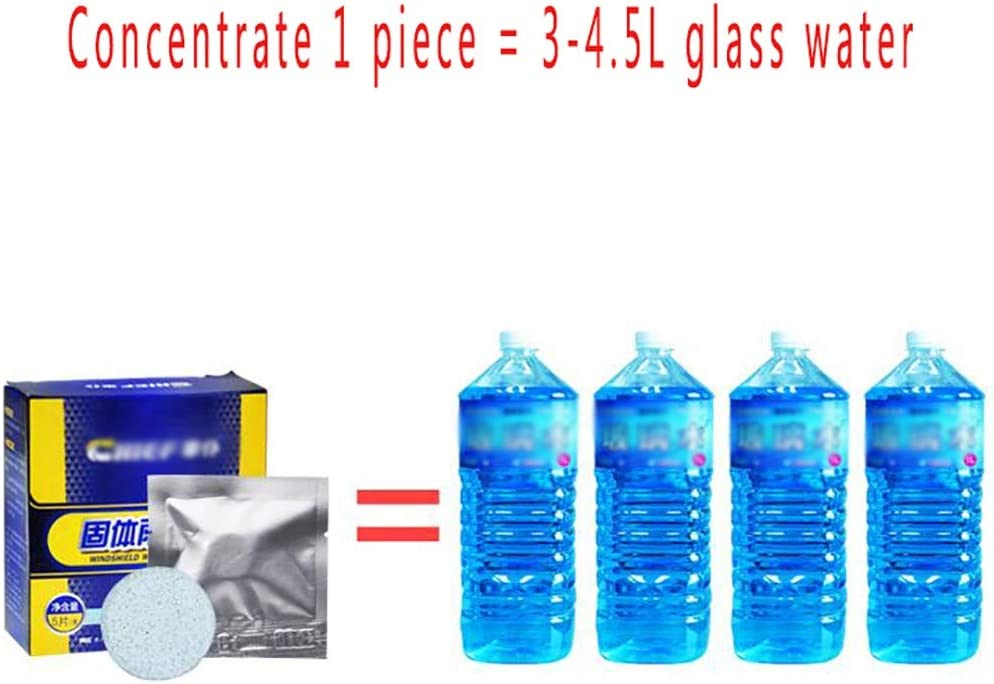 Amazon.es: Limpiador sólido rueda de agua de vidrio anticongelante fino con limpiador fino concentrado agente de limpieza pastillas efervescentes siempre insista en el éxito (Color : 1 box of 5 pieces)