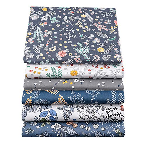 "YYSZ 6Pcs 18"" x 22"" Fat Quarters Fabric Bundles for Patchwork Quilting,Pre-Cut Quilt Squares for DIY Sewing Patterns Crafts ..."