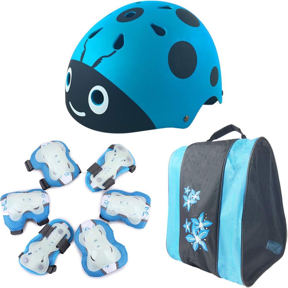 Czz Rollschuhlaufen Kinder Helm Schutzausrüstung, Fahrrad Sicherheit Hut, Voll Skateboard Roller Skates Knieschützer