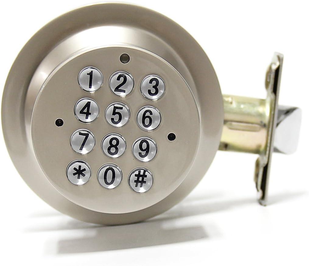 Signstek Electronic Keypad Door Knob Lock with Encryption Function, Grey
