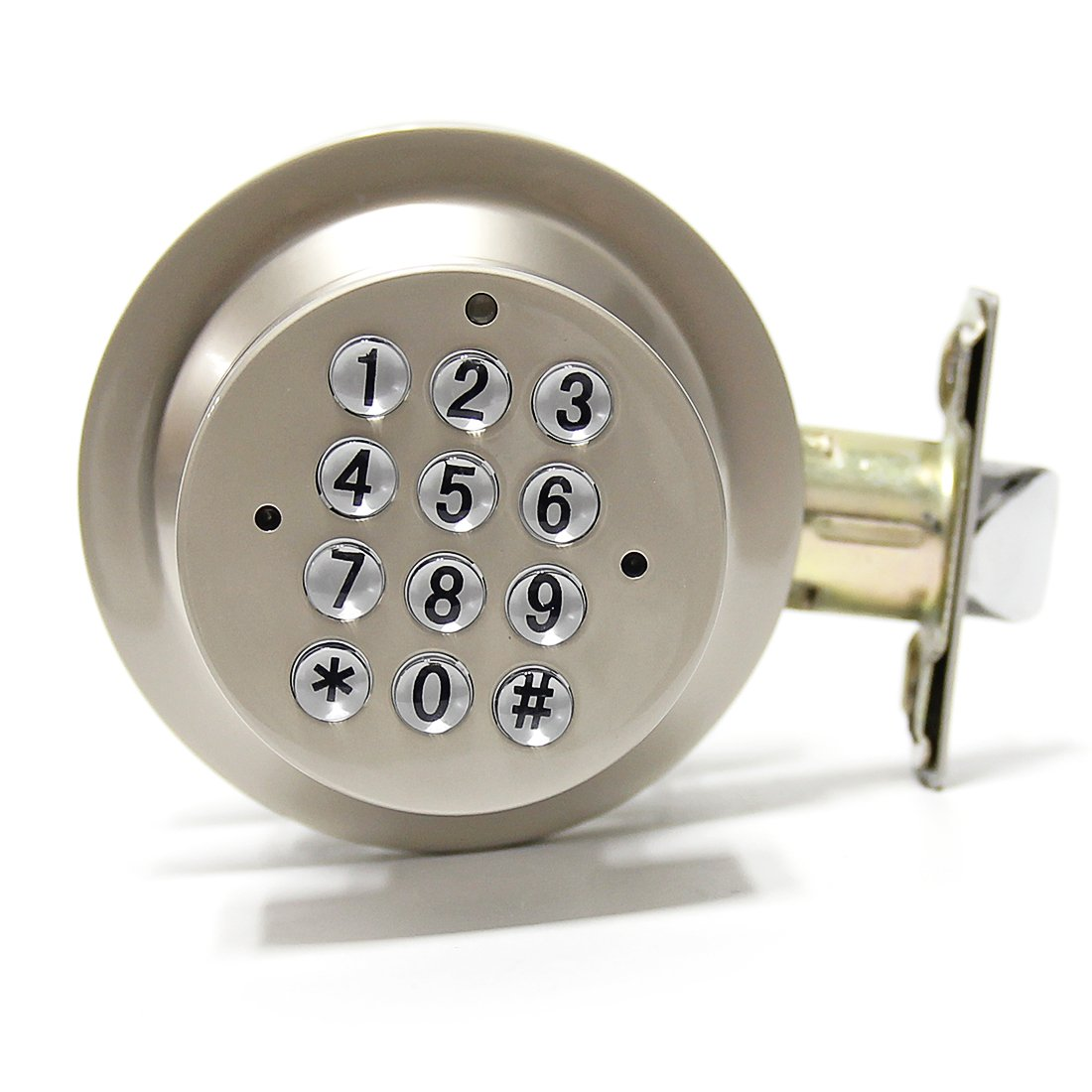 Signstek Keyless Door Knob Lock with Keypad,Grey