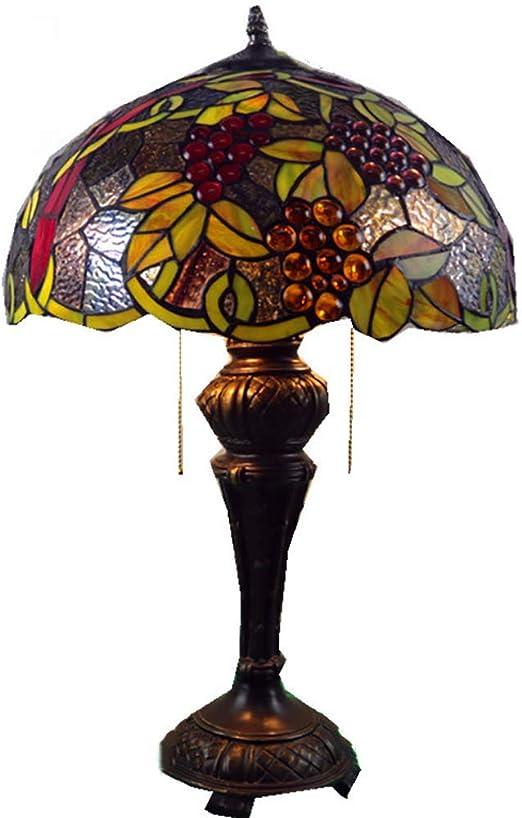 HDDD Pantalla de cristal lámpara de mesa retro estilo Tiffany ...